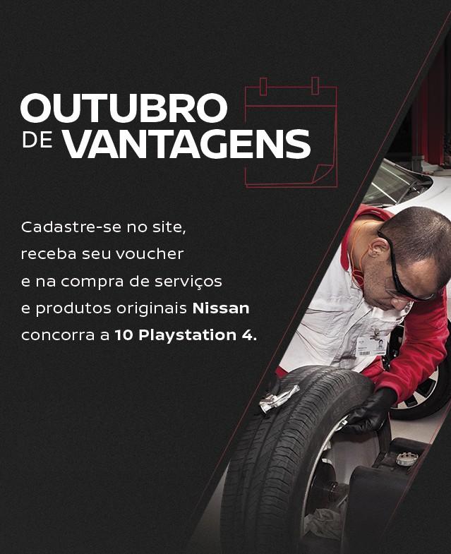 Nissan relança campanha de revisões Outubro de Vantagens, com sorteio de 10 PlayStation 4