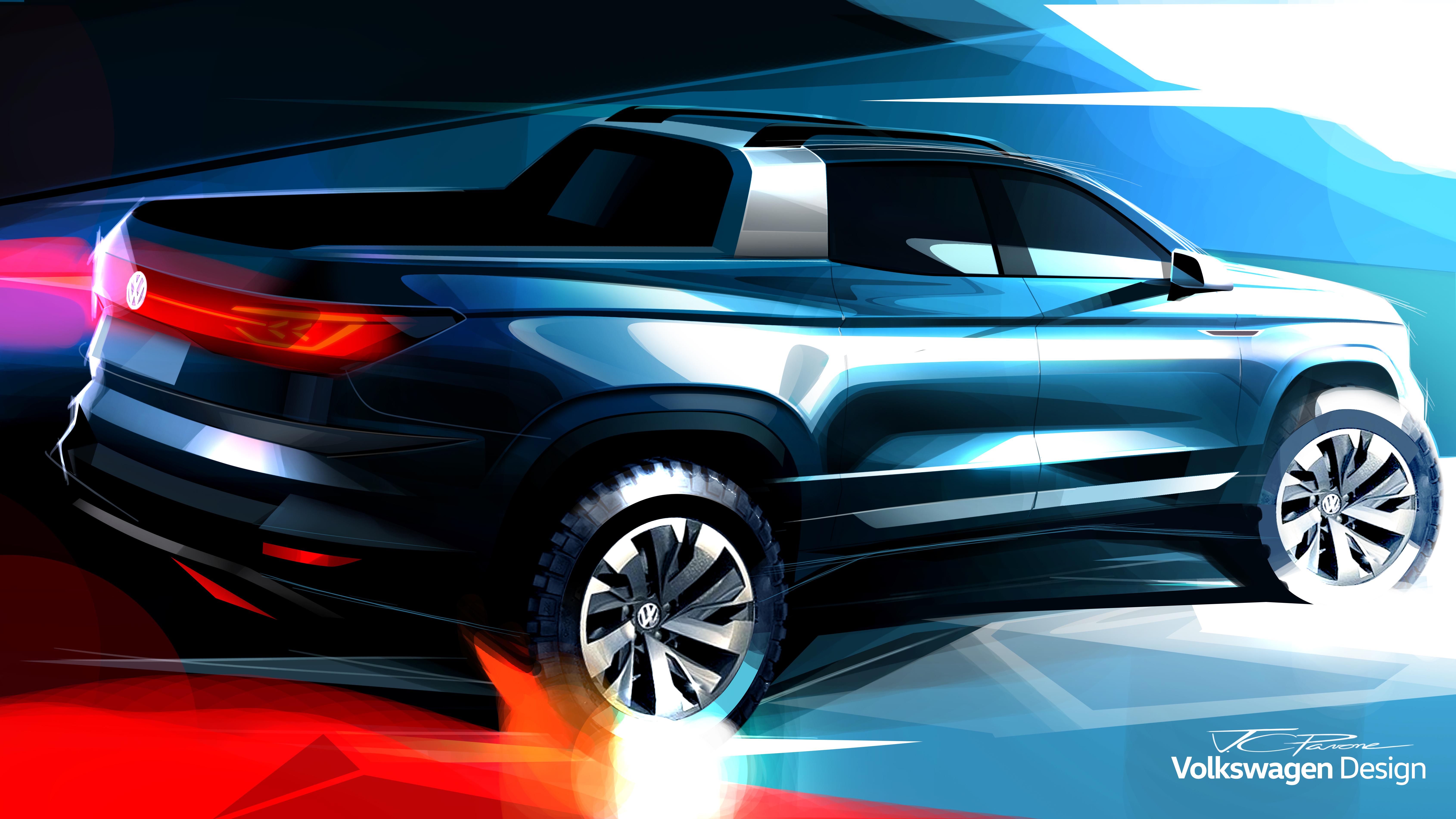 Estreia no Brasil: Volkswagen apresenta picape-conceito inédita no Salão do Automóvel