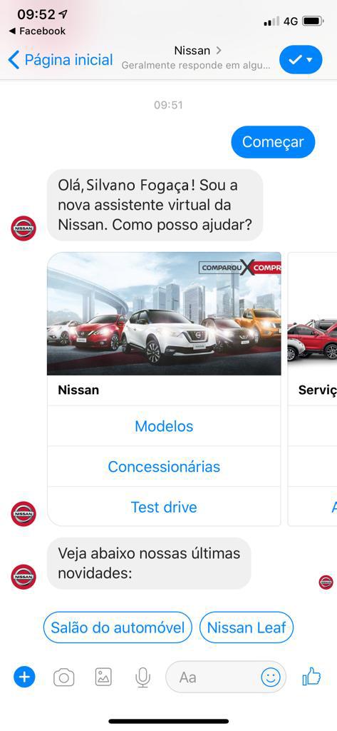 Inovação: projeto da Nissan atende clientes e até vende carros através da Inteligência Artificial no Brasil