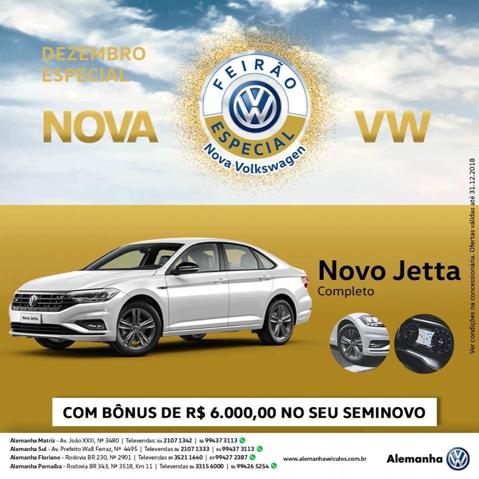 Dezembro Especial Nova Volkswagen: Jetta 2019 com bônus de R$ 6.000,00 e Fox 1.6 com taxa 0%!