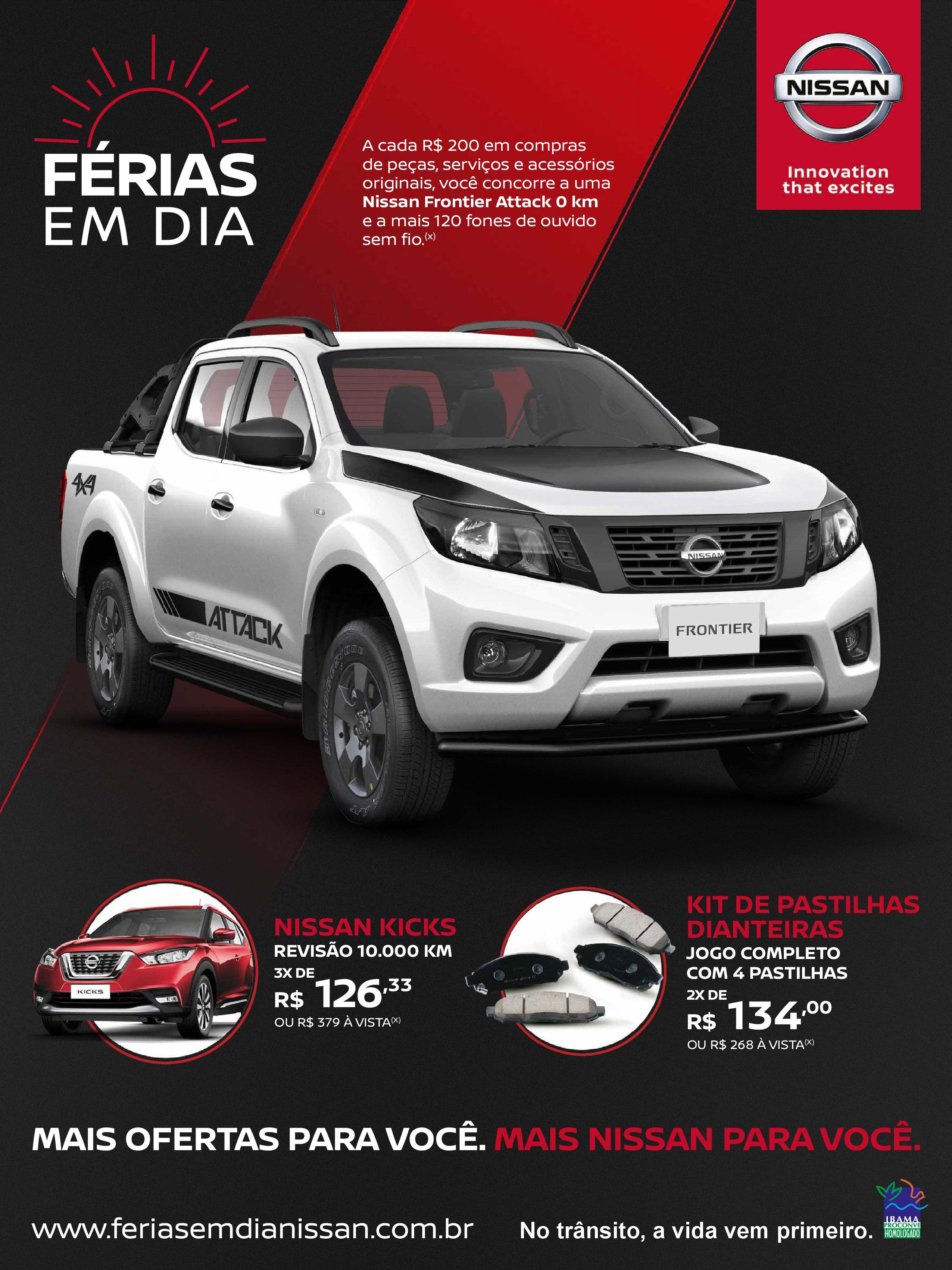 Nissan realiza sorteio de Frontier Attack em campanha de revisão Férias em Dia
