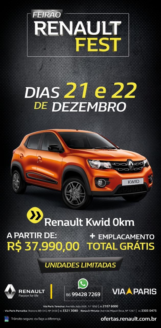 Renault Fest: só até este sábado, ofertas especiais de Natal na Via Paris!