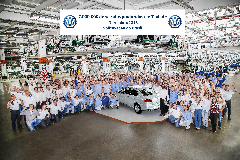 Volkswagen do Brasil celebra marca de 7 milhões de carros produzidos na fábrica de Taubaté