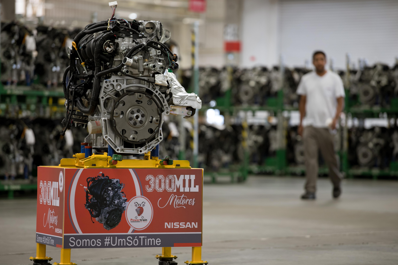 Nissan chega à marca de 300.000 motores produzidos em solo brasileiro