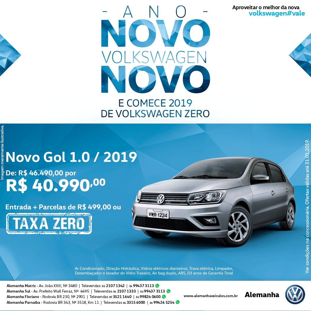 Ano Novo, Volkswagen Novo: Alemanha Veículos inicia 2019 com muitas ofertas para você!