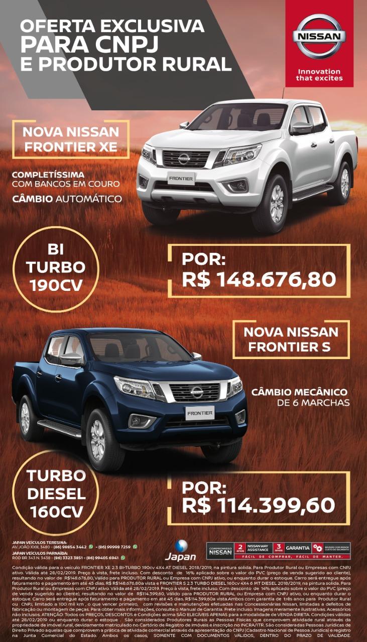Nissan Frontier 2019 chega com descontos para produtores rurais e CNPJ! Veja os preços especiais