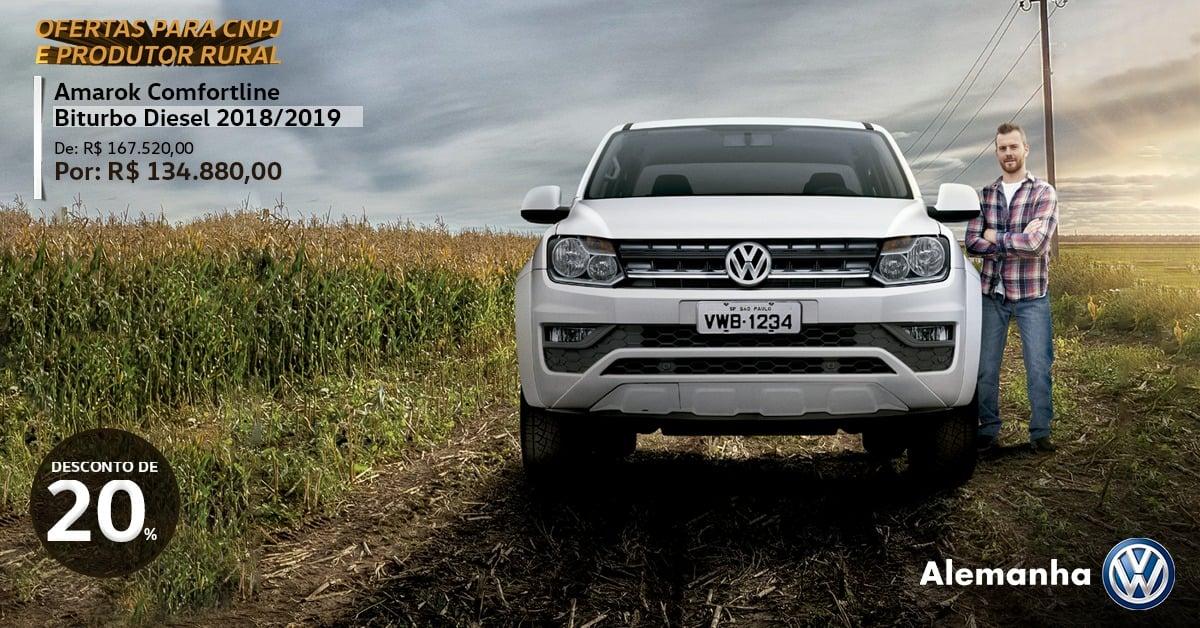 Volkswagen Amarok conta com até 20% de desconto para Produtor Rural e CNPJ! Confira as ofertas