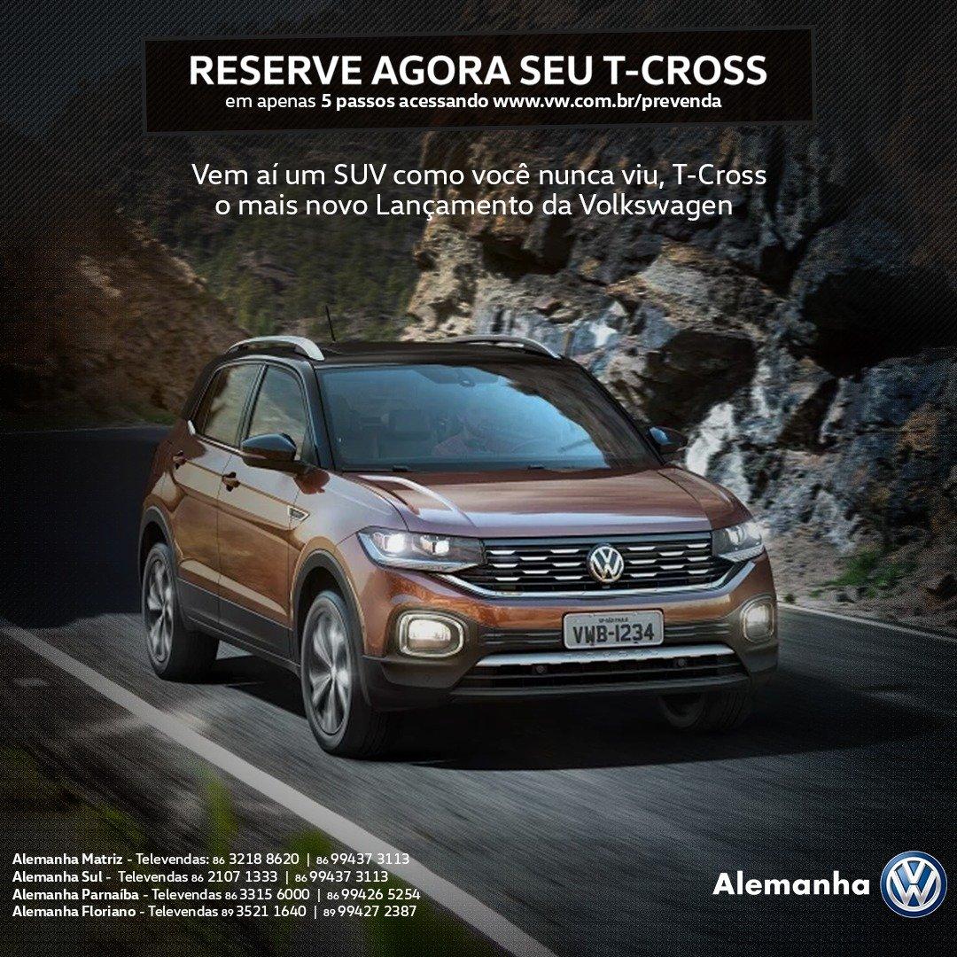 Volkswagen T-Cross: reserve já seu novo SUV com 3 revisões gratuitas e benefícios exclusivos
