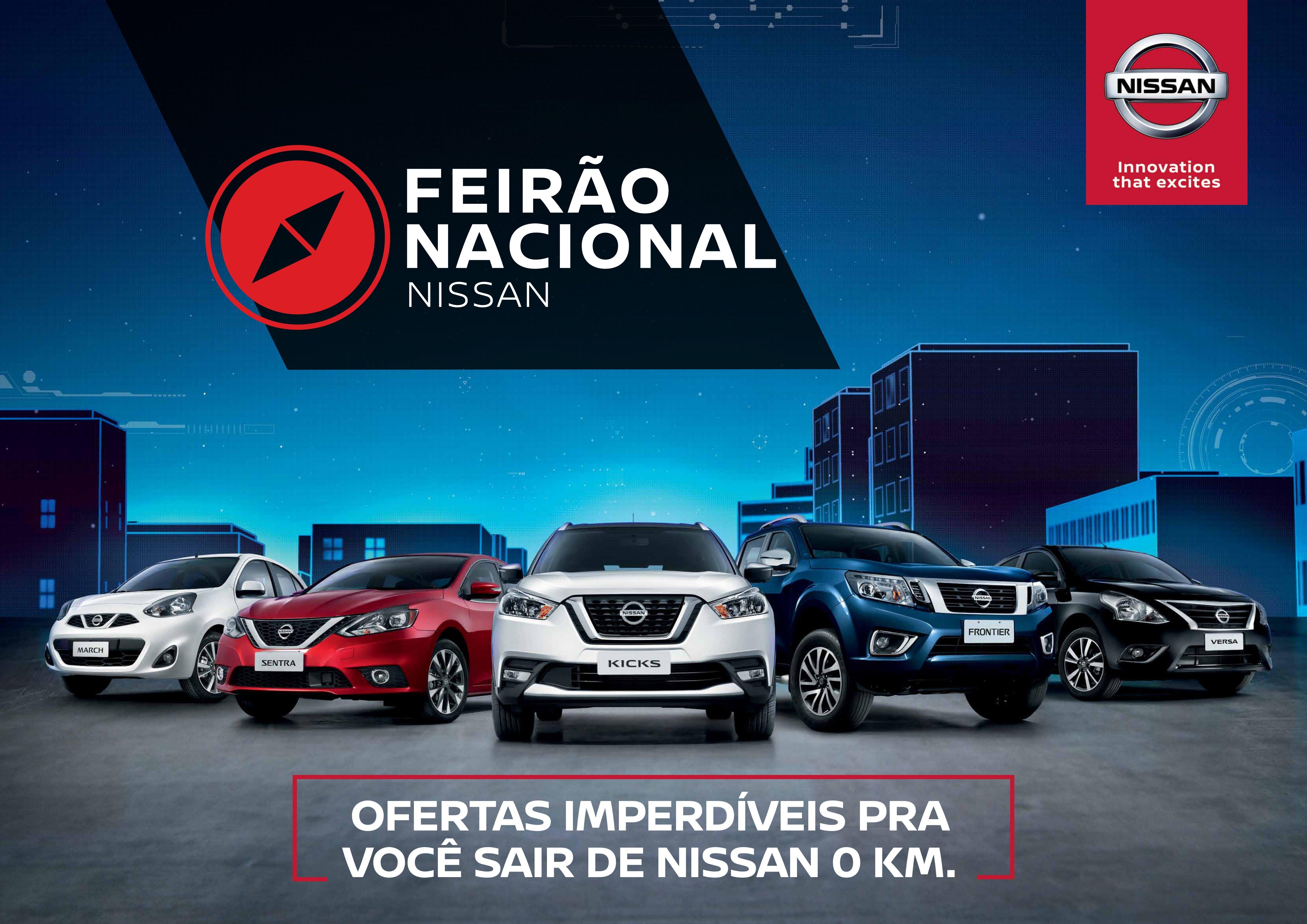 Feirão Nacional Nissan inicia nesta quarta: garanta seu carro zero com as maiores facilidades!