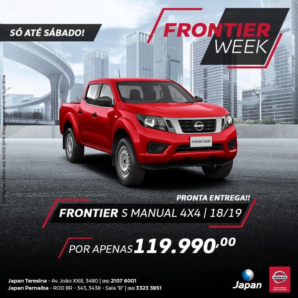Nissan Frontier Week: só esta semana, condições super especiais para a picape mais premiada da categoria!