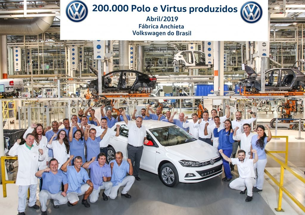 Volkswagen Polo e Virtus chegam à marca de 200.000 unidades produzidas no Brasil