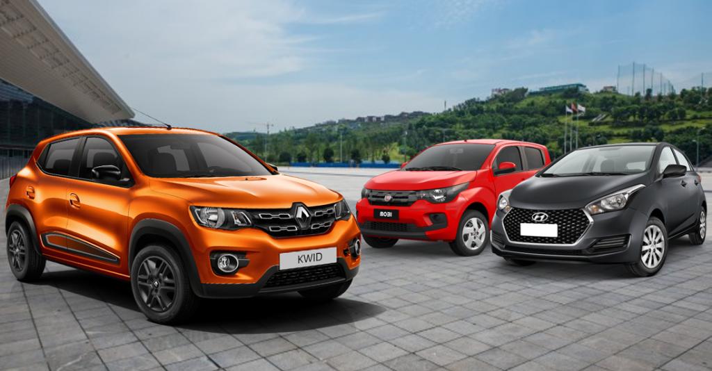 Renault Kwid, Fiat Mobi ou Hyundai HB20? Saiba qual é o melhor carro para seu dia-a-dia