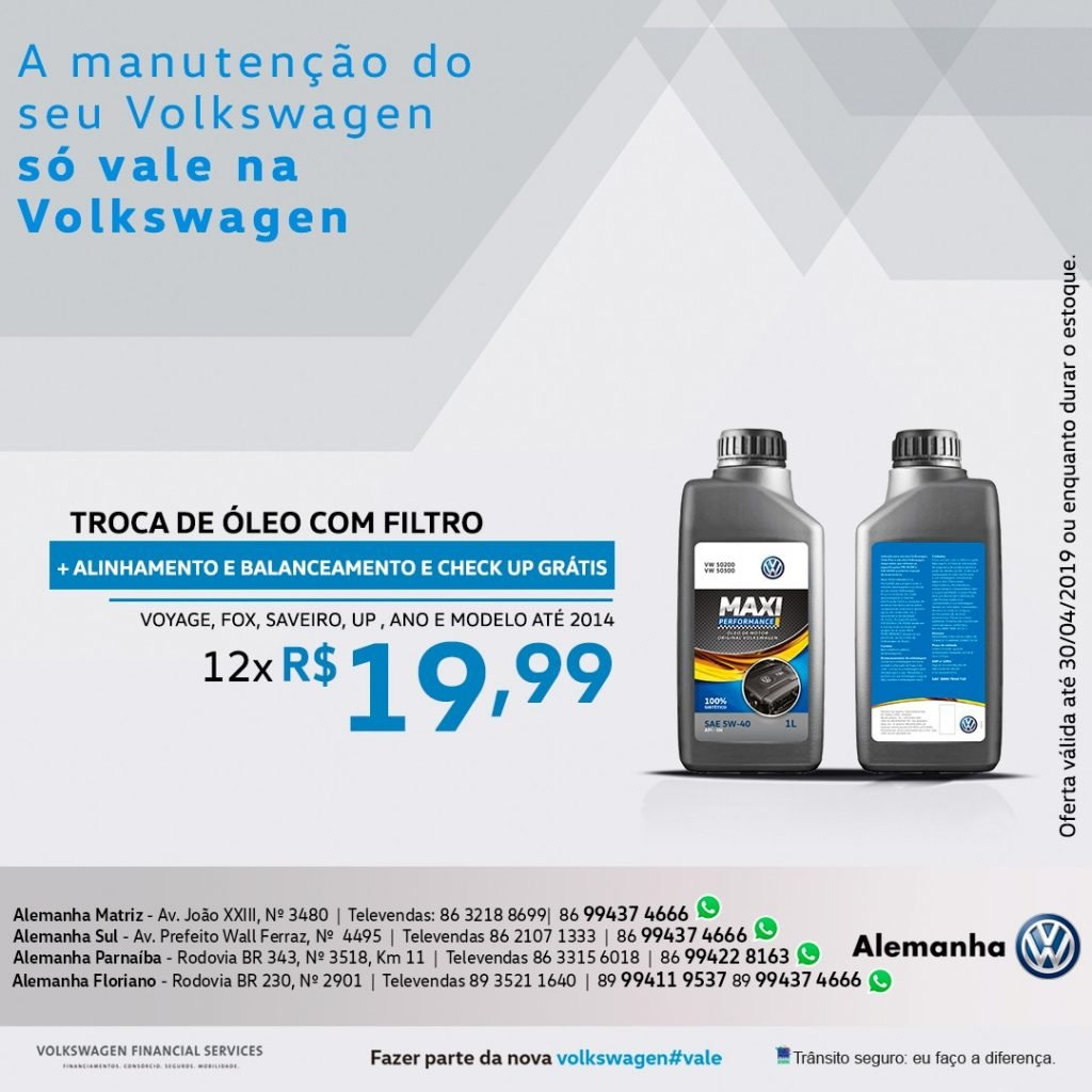 Cuide de seu Volkswagen aproveitando as ofertas de oficina da Alemanha Veículos!