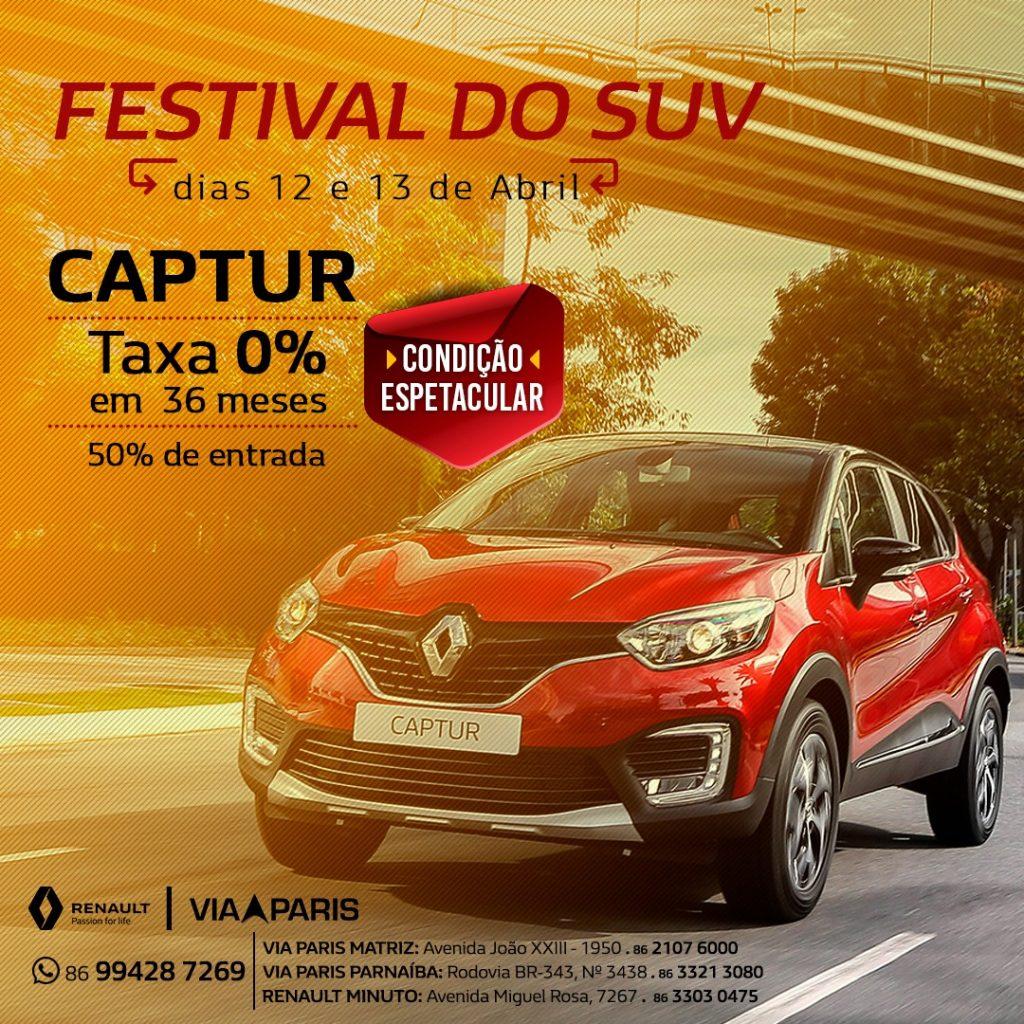 Festival do SUV Renault: ofertas espetaculares só nesta sexta e sábado!