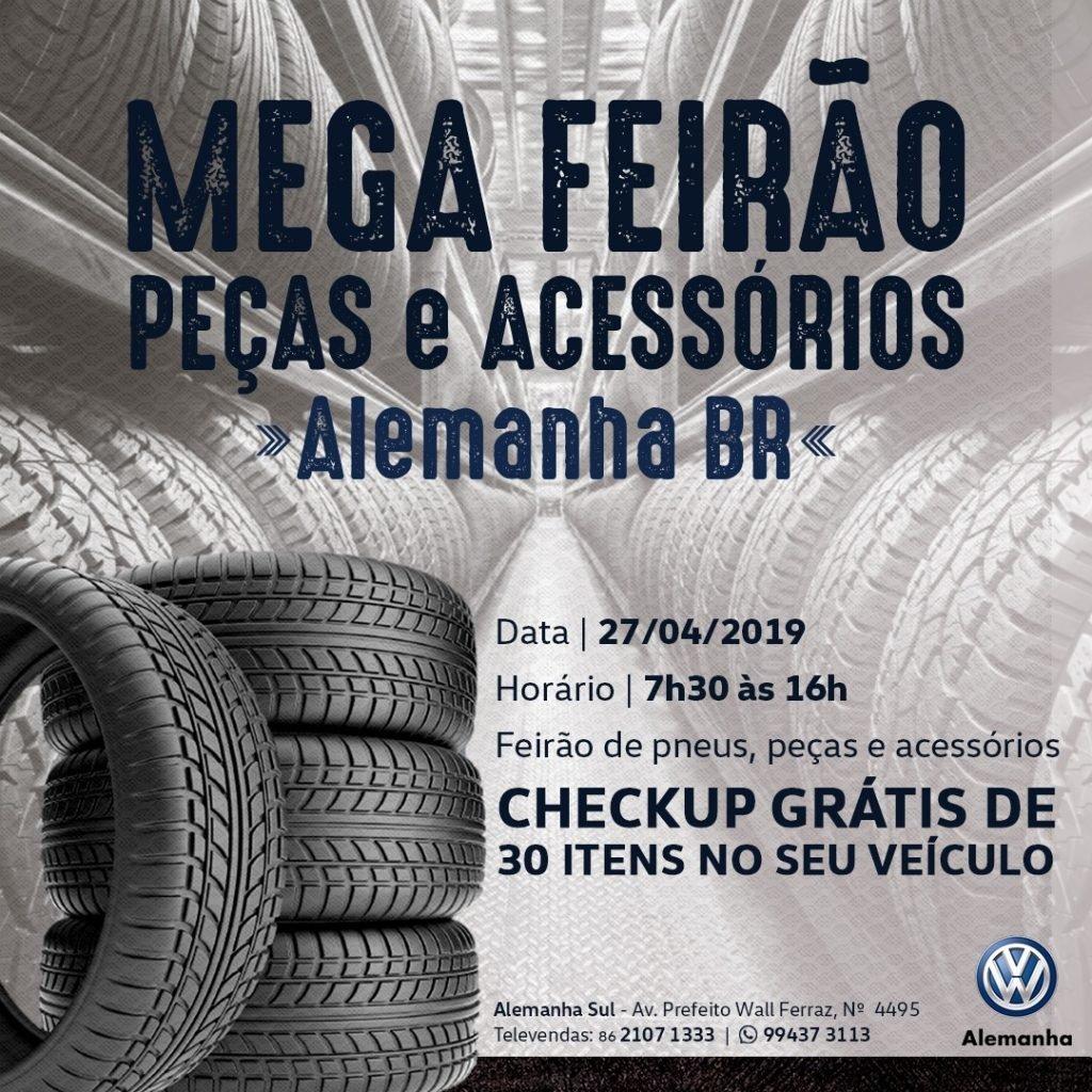 Mega Feirão de Peças e Acessórios na Alemanha BR-316: agende o check-up grátis de seu carro e aproveite estas ofertas!