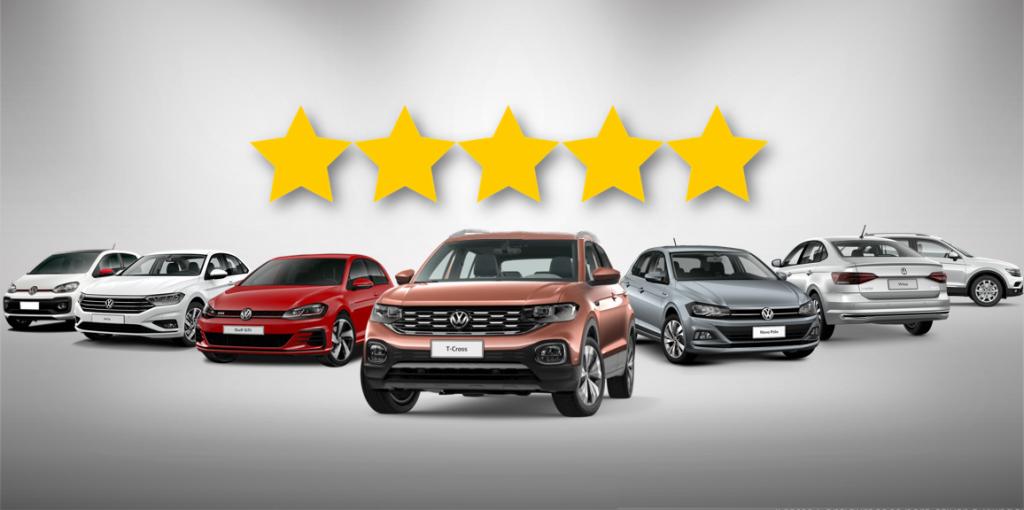 Volkswagen é a marca com o maior número de carros certificados com nota máxima em segurança