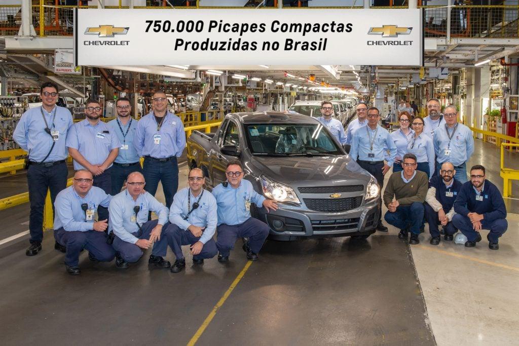 Montana é a picape compacta de número 750.000 da Chevrolet