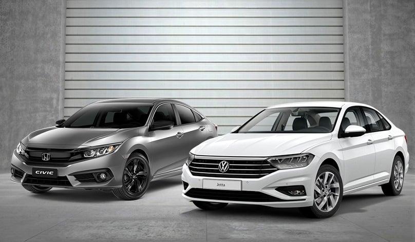 Volkswagen Jetta 250 TSI ou Honda Civic? Confira a melhor opção de sedan médio para você