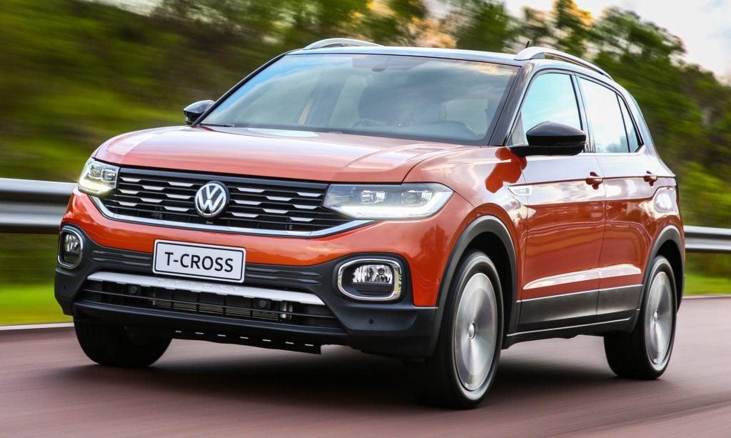 Volkswagen T-Cross fecha 1º semestre de 2019 no Top 10 de SUVs mais vendidos