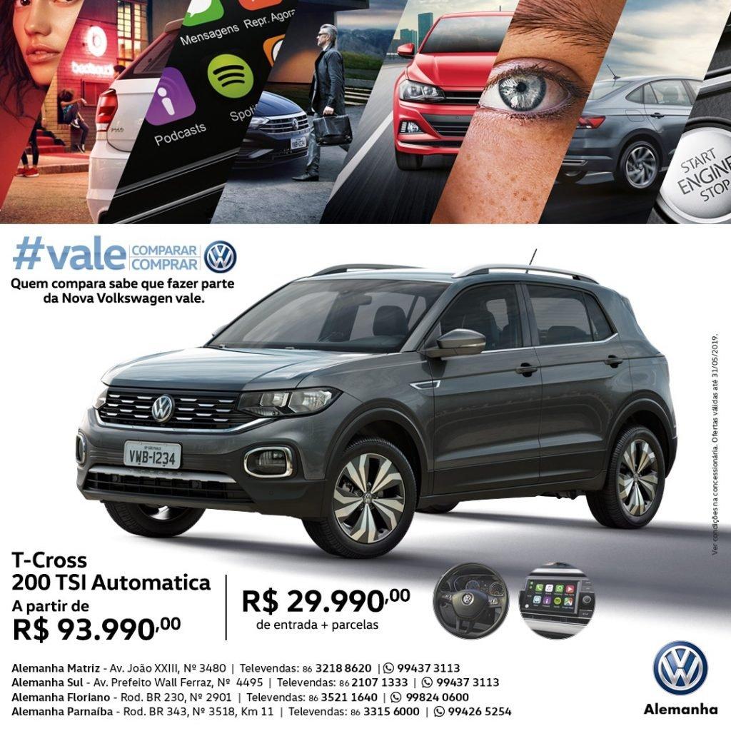 Maio é mês de ofertas para toda a linha Volkswagen na Alemanha Veículos! Confira as condições especiais