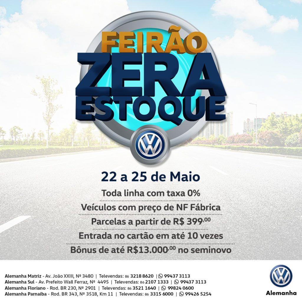 Feirão Zera Estoque Alemanha Veículos: só até sábado, condições únicas para sair de Volkswagen zero!