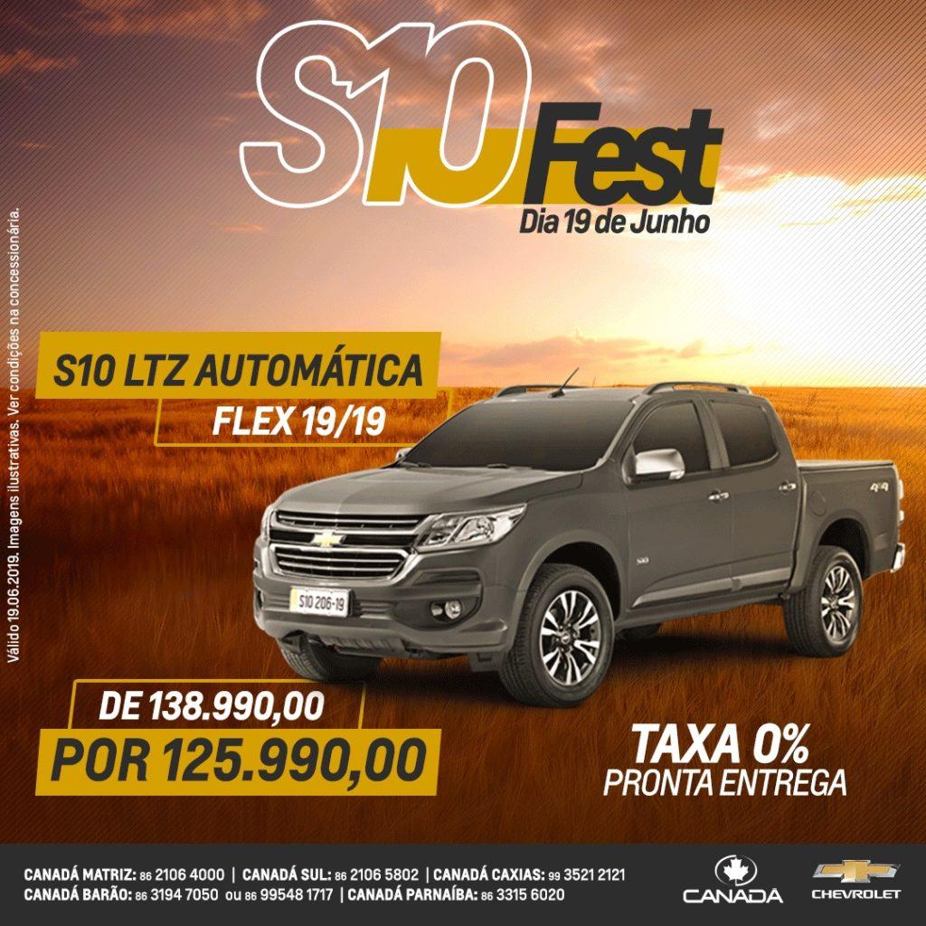 Só hoje! Chevrolet S10 Fest: um dia de ofertas especiais na Canadá Veículos!