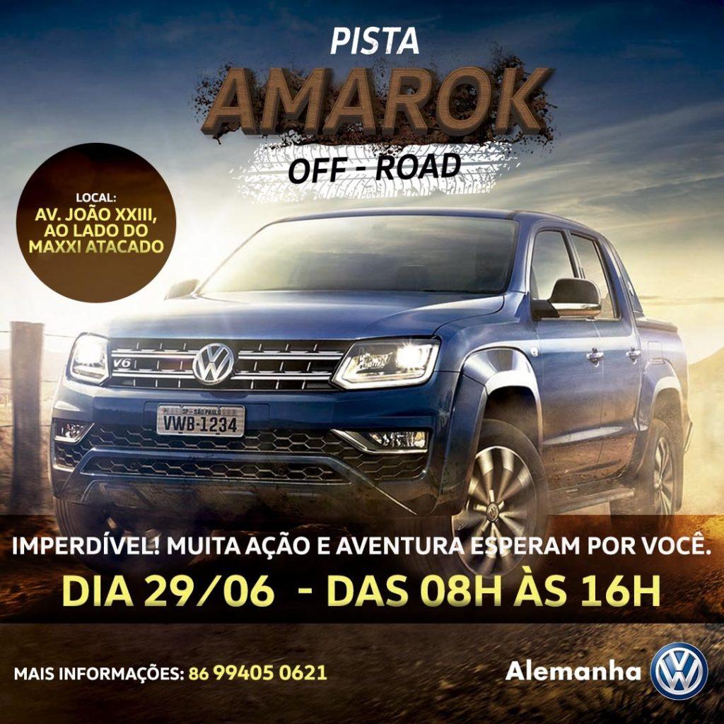 Só neste sábado: venha conhecer a força da Volkswagen Amarok em um test-drive off-road!