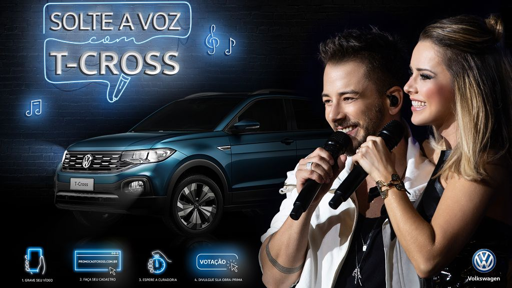 Solte a voz com o VW T‑Cross e assista o show da dupla Sandy e Junior
