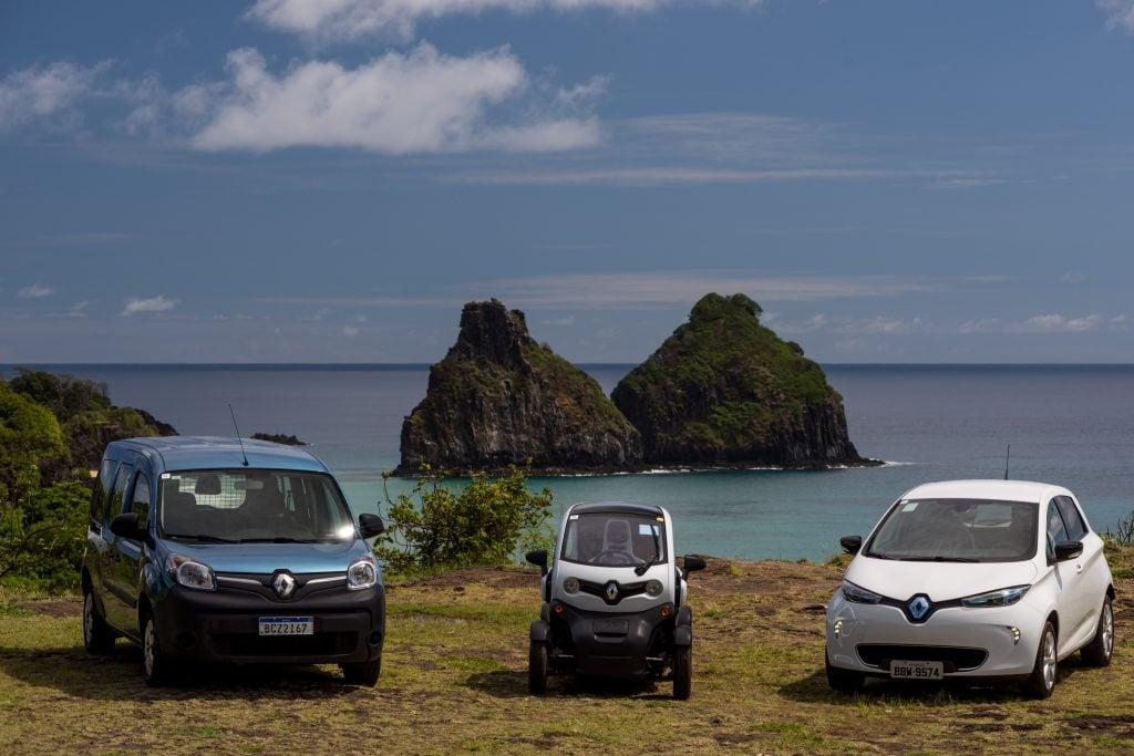Renault entrega primeira frota de carros elétricos a Fernando de Noronha, que banirá veículos a combustão até 2022