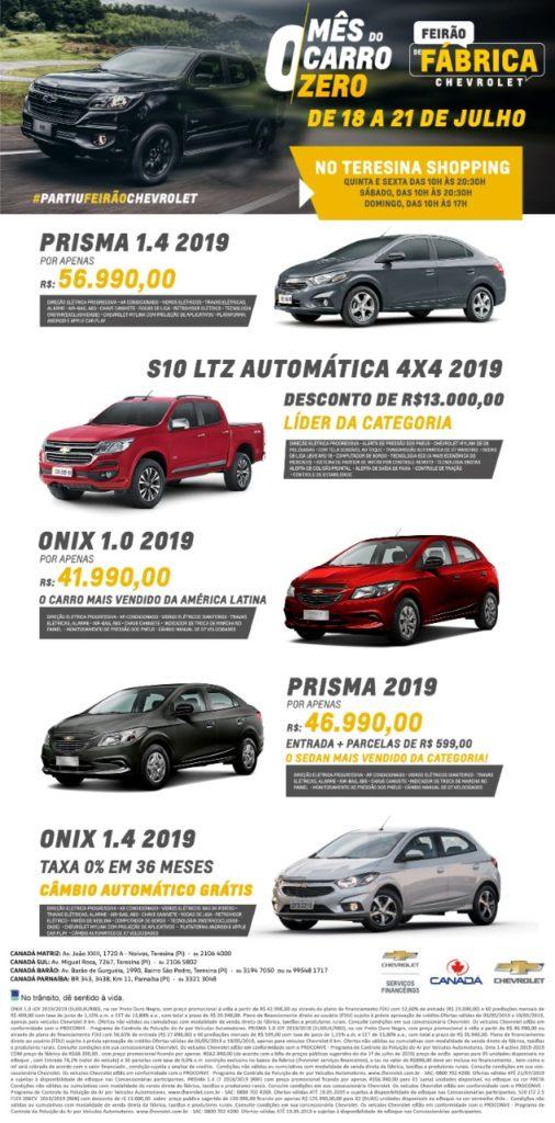 Feirão de Fábrica Chevrolet: até dia 21, condições especiais no The Shopping para toda a linha!