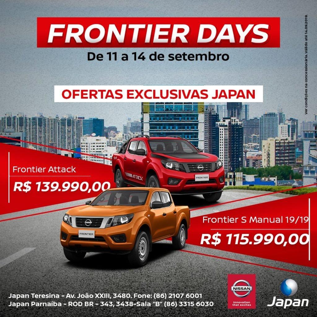 Nissan Frontier Days: garanta a picape 4×4 forte de verdade com preços especiais na Japan Veículos!