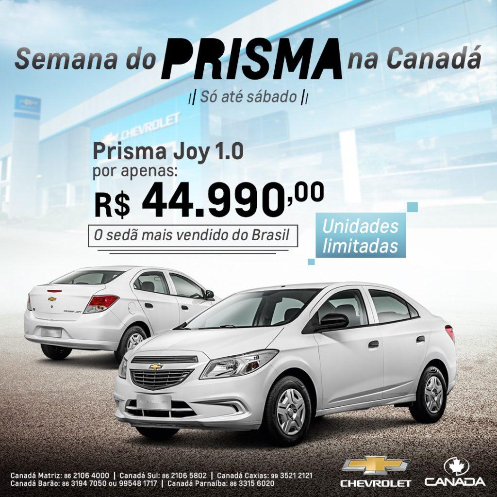 Semana do Prisma na Canadá Veículos: garanta o sedan mais vendido do Brasil com preço super especial!
