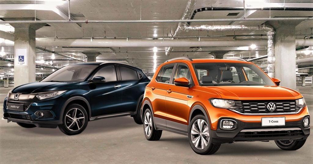 Volkswagen T-Cross enfrenta Honda HR-V: saiba qual é a melhor opção de SUV para você!