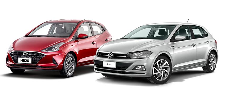 Volkswagen Polo x Hyundai HB20: qual é a melhor opção entre os novos hatches? Confira!
