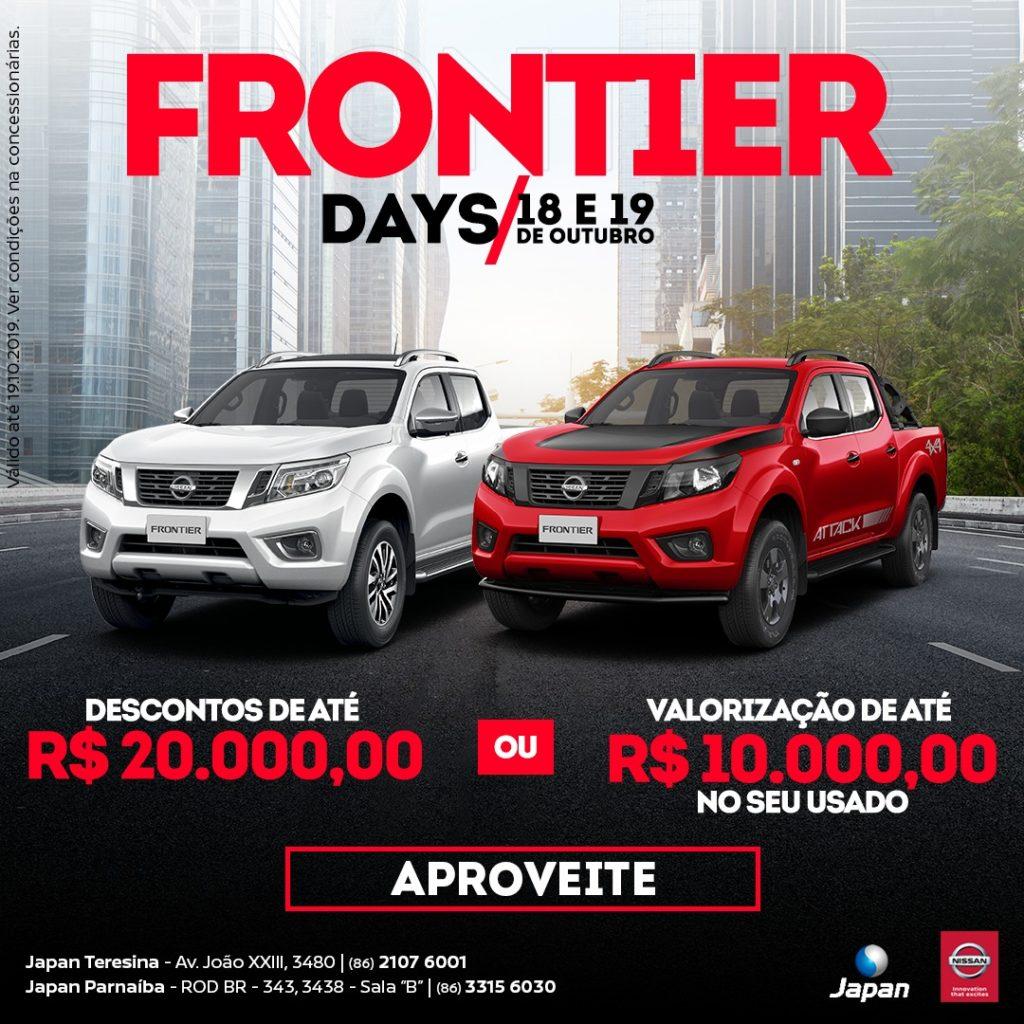 Frontier Days: nesta sexta e sábado, descontos de até R$ 20.000,00 ou valorização de R$ 10.000,00 no seu usado!