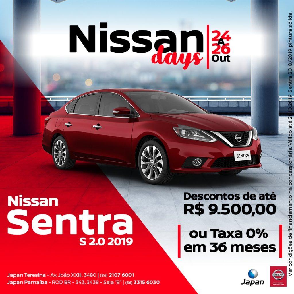 Nissan Days: de 24 a 26 de outubro, dias imperdíveis para sair de carro zero!