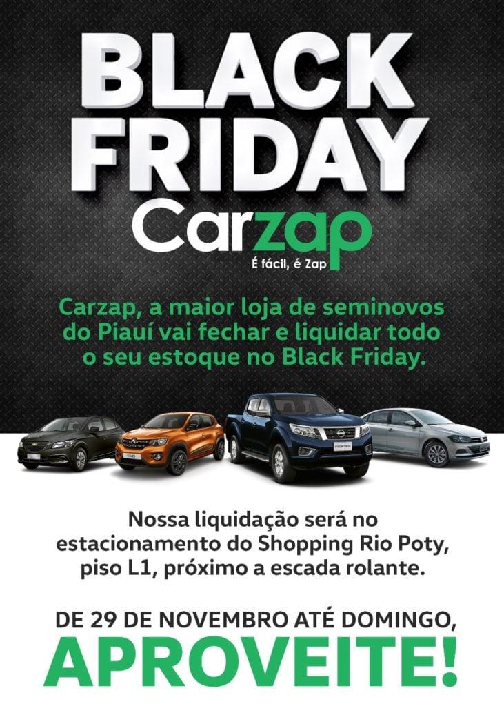 Black Friday CarZap: neste fim de semana, operação limpa estoque no estacionamento do Rio Poty!