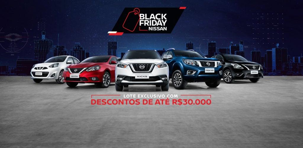 Ação Black Friday Nissan: descontos de até R$ 32.000,00 em lote exclusivo só esta semana!