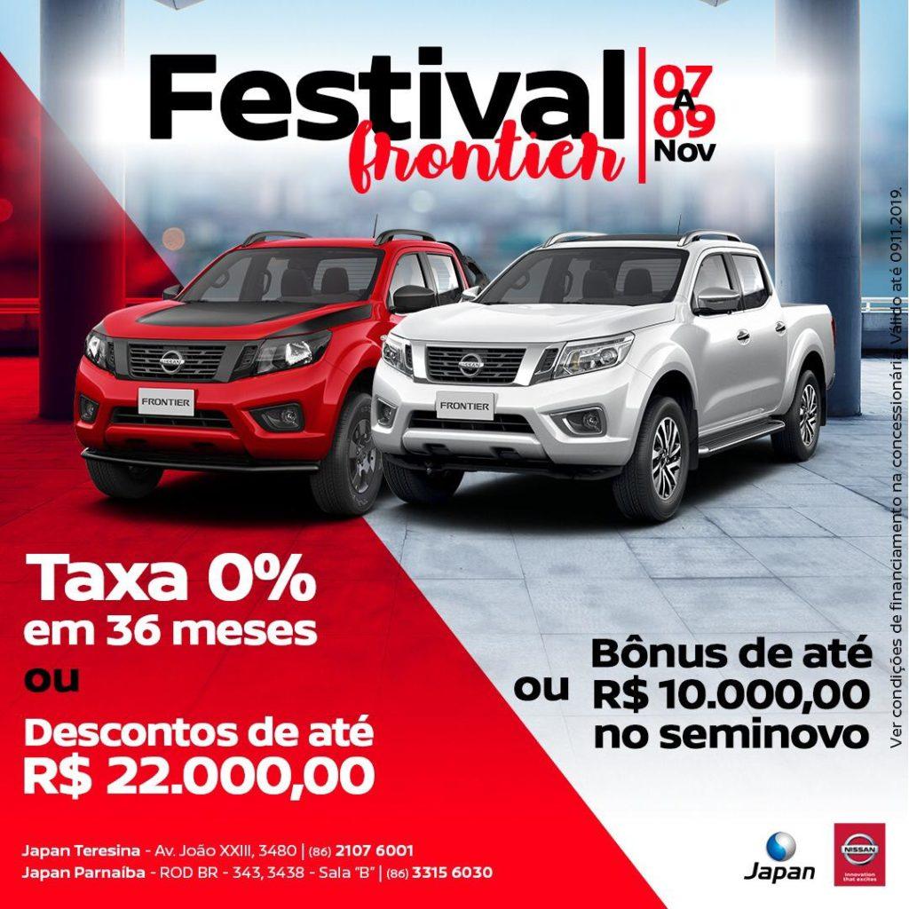 Festival Nissan Frontier: facilidades como você nunca viu e descontos de até R$ 22.000,00!!