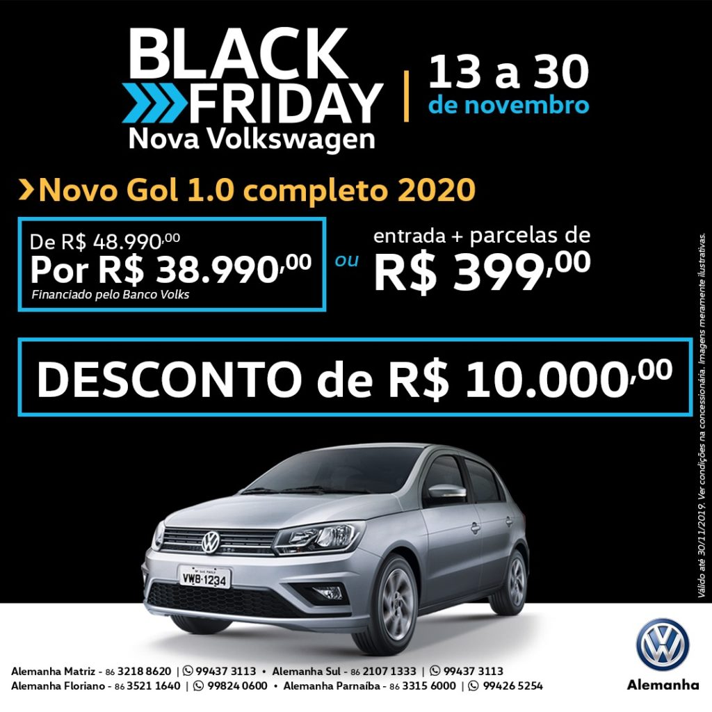 Black Friday Volkswagen: descontos imperdíveis de até R$ 20.000,00 para toda a linha!