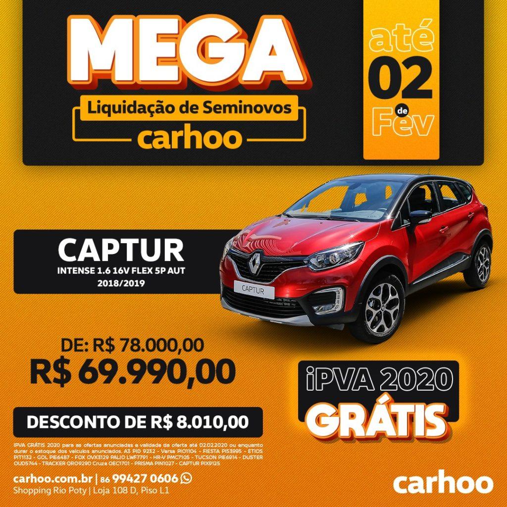 Mega Liquidação de Seminovos Carhoo: confira as ofertas imperdíveis!
