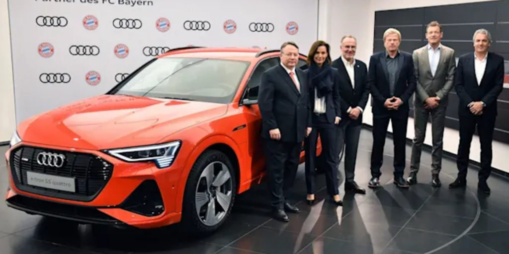 Bayern rompe com BMW e firma parceria para jogadores dirigirem carros Audi até 2029