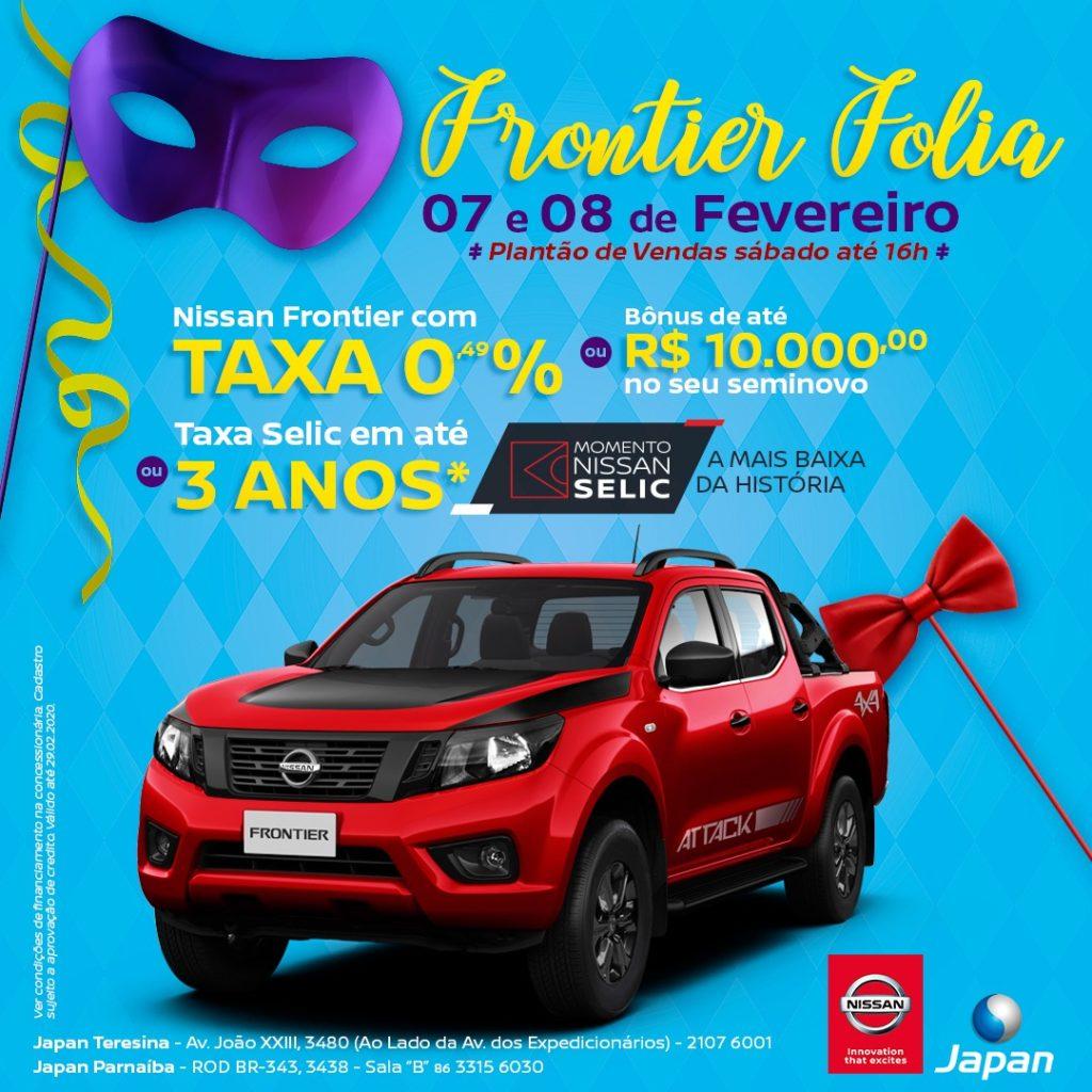 Frontier Folia: só hoje e amanhã, garanta a picape da Nissan com as maiores facilidades!
