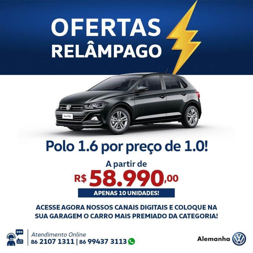 Oferta Relâmpago Alemanha Veículos: VW Polo 1.6 pelo preço do 1.0! Saiba mais