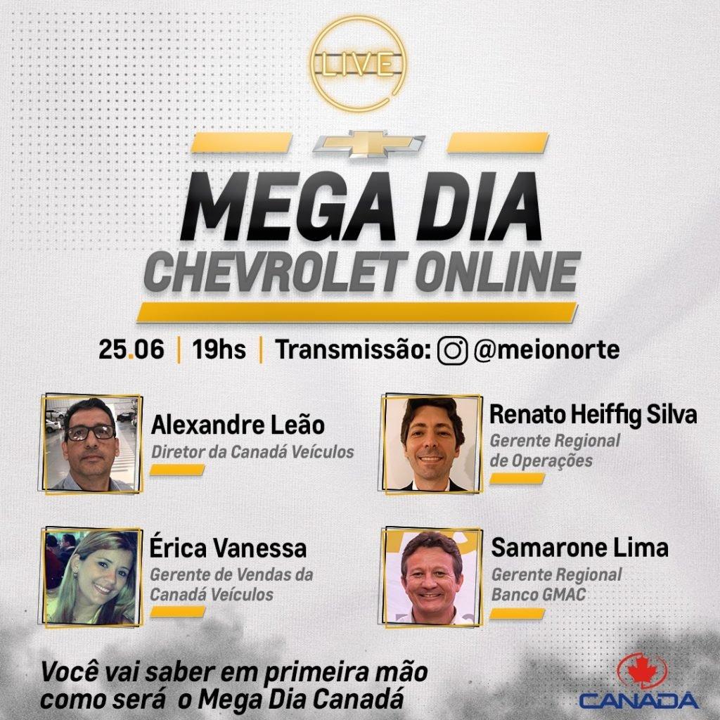 Live hoje às 19h: saiba tudo sobre o Mega Dia Chevrolet Online!