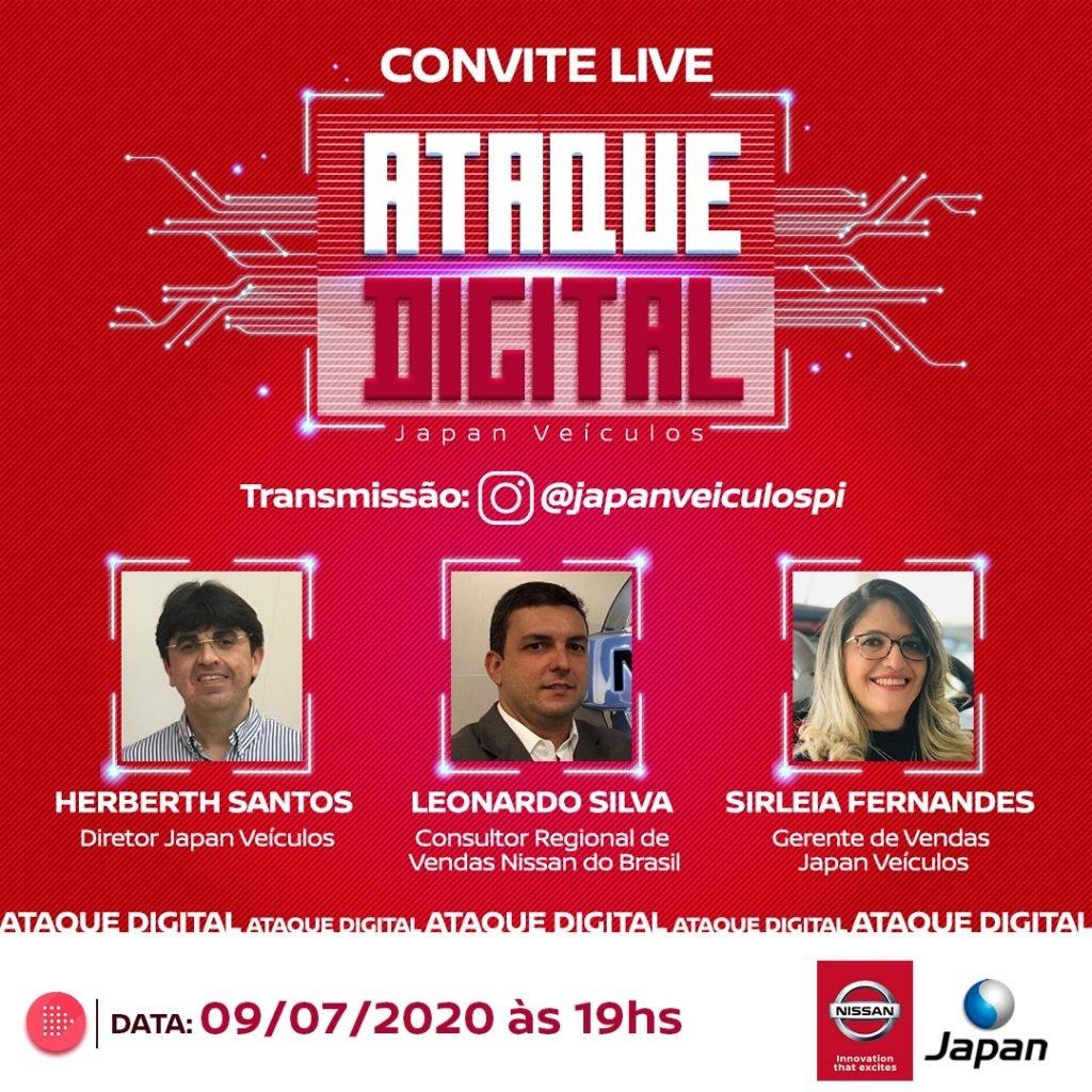 Live hoje às 19h: prepare-se para as ofertas do Ataque Digital Japan Veículos!