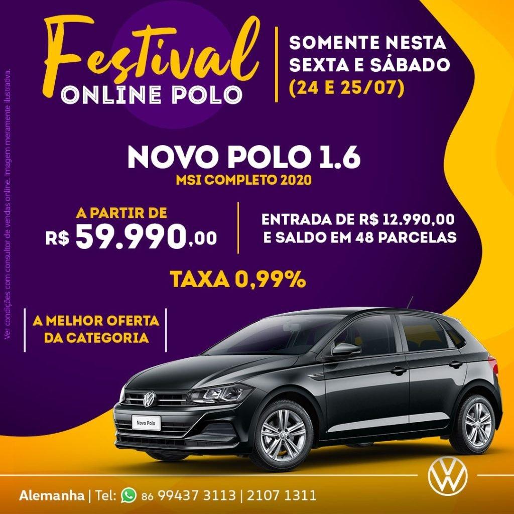 Festival Online Polo: só nesta sexta e sábado, aproveite esta oferta exclusiva Alemanha Veículos!