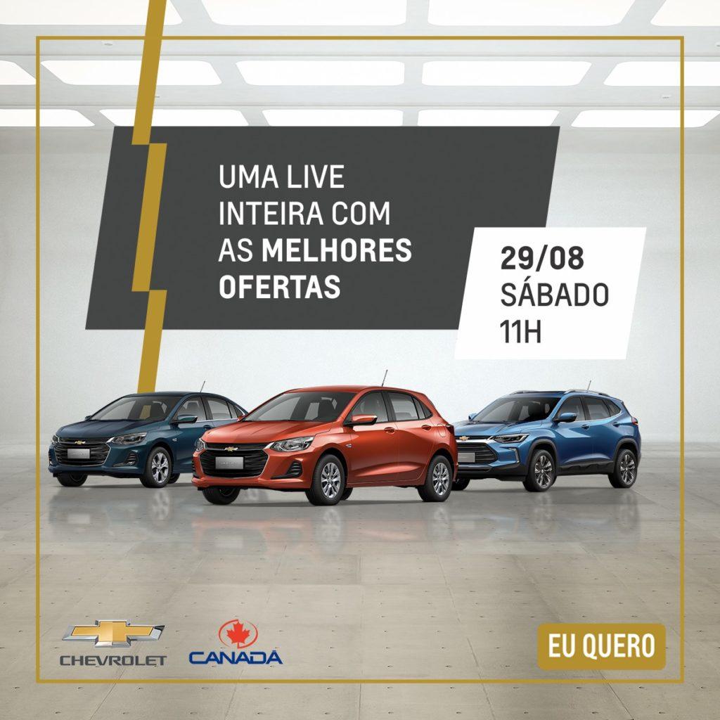 Sábado é dia de Live Feirão Chevrolet: cadastre-se para aproveitar super ofertas!