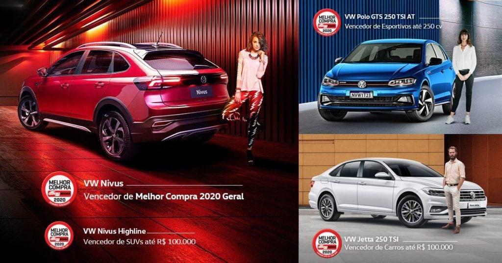 Volkswagen é a grande vencedora do prêmio Melhor Compra 2020, com 4 vitórias