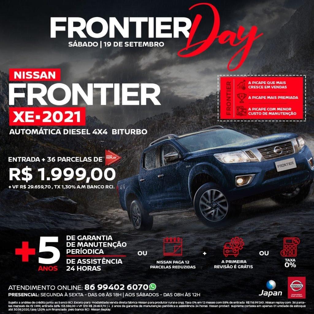 Frontier Day: neste sábado, condições incríveis para a picape 2021 da Nissan!